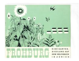 Werbeprospekt für die Siedlung Frohburg aus dem Jahr 1951